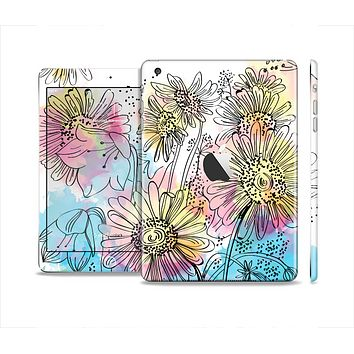 The Colorful WaterColor Floral Skin Set for the Apple iPad Mini 4