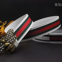 Gucci Belt Men Women Fashion Belts 538091