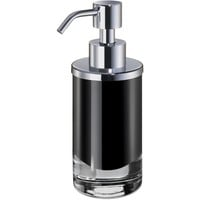Black Extra Small Glass Table  Pump Liquid Soap Lotion Dispenser Bath, Kitchen