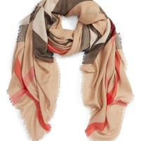 Burberry Mulberry Silk Blend Travel Scarf | Nordstrom