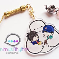 Crystal Clear Acrylic straps charm: Baymax Big Hero 6