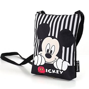 Disney Crossbody Bag Mickey Bag Multi-pocket Mickey Mouse Shoulder Purse Bag - Mickey Smile