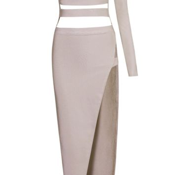 Nya Blush Cut Out Bandage Maxi Dress