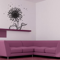 Vinyl Wall Decal Sticker Sketchy Daisy #1067