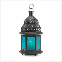 Lantern with Blue Glass from lanternsnow