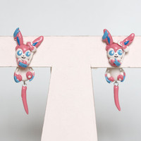 Sylveon Eeveelution Pokemon Polymer Clay Earrings