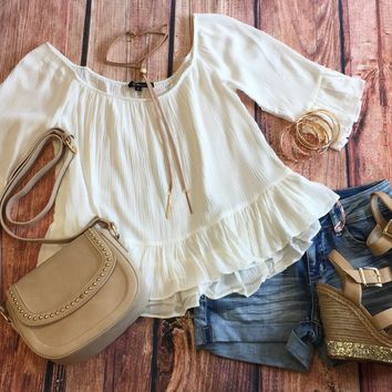 Love Letters Top: White
