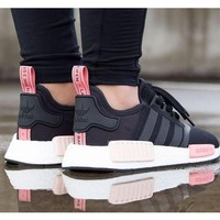 Adidas NMD Trending Fashion Casual Sports Shoes Pink soles