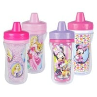 The First Years Disney Minnie Mouse and Princess Insulated Sippy Cup - 9 oz., 4 pack