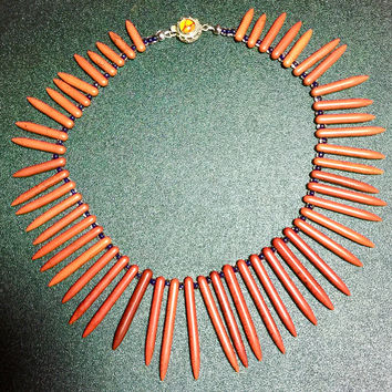 "16"" Paprika Turquoise POCHAHANTAS Blades necklace, Disney Collection"