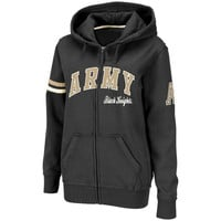 Army Black Knights Women's Valley Full Zip Hoodie - Black