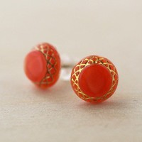 ShanaLogic.com - 100% Handmade  Independent Design! Vintage Lady Mary Earrings - Coral - New Arrivals