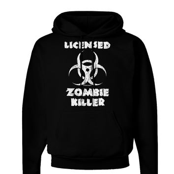 Licensed Zombie Killer - Biohazard Dark Hoodie Sweatshirt by TooLoud