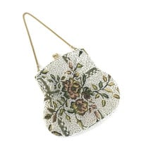 Vintage Evening Bag Needlepoint and Beads