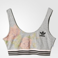 adidas PAST ROSE BRA - Grey | adidas US