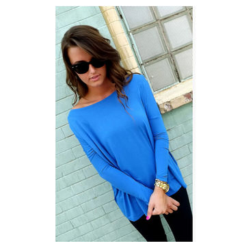 Stylish Batwing Sleeve Tops T-shirts [7322489793]