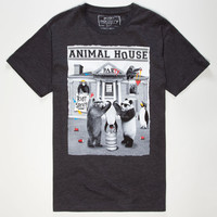 Riot Society Animal House Mens T-Shirt Heather Black  In Sizes