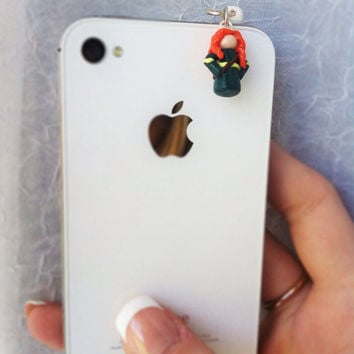 Disney/Pixar Princess Merida Cell Phone Charm by aWishUponACharm