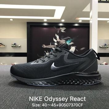 Nike Odyssey React 2 Men Black Sports Running Shoes - AQ0070-881