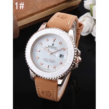 Rolex Classic Retro Women Men Movement Business Watches Wrist Watch 1#