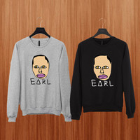 Earl sweater Black/Gray/Blue/Orange/Red/Yellow Sweatshirt Crewneck Men or Women Unisex Size