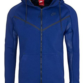 NIKE TECH FLEECE WINDRUNNER HERO MEN'S JACKET Deep Royal Blue/Obsidian Medium