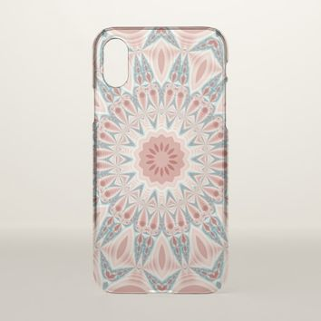 Striking Modern Kaleidoscope Mandala Fractal Art iPhone X Case
