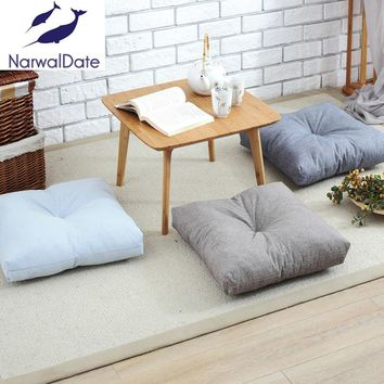 Solid Cotton Linen Cushion Meditation Cushion Yoga Mat Meditation Tatami Cushion Cushion Playing