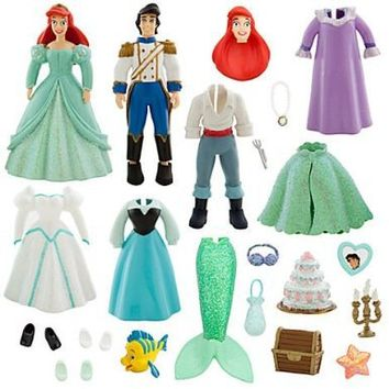 Disney Parks Ariel w/ Prince Eric Deluxe Princess Fashion Set - Disney Parks Exclusive & Limited Availability