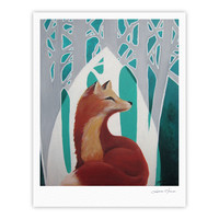 "Lydia Martin ""Fox Forest"" Fine Art Gallery Print"