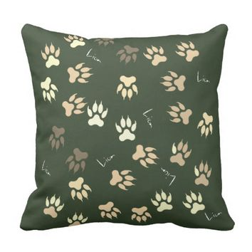 Funky Lion Paw Pattern Cushion Throw Pillow