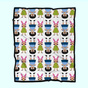 Tina And Louise Belcher From Bobs Burgers Cartoon Show Fleece Blanket