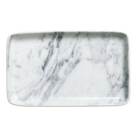 H&M - Ceramic Plate - White/marble