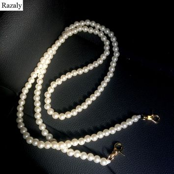 Razaly brand Pearl strap you straps for bags handbag accessories purse belt handles cute gold chain tote women parts 2017 holder