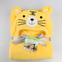 Cotton Hooded Animal Baby Bathrobe Towel