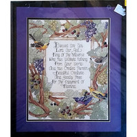 Blessed Are You Counted Cross Stitch Kit 11 x 14 Vintage 1994 Bucilla c1501