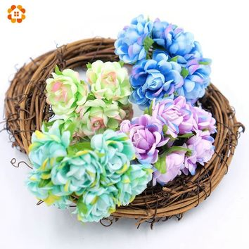 30pcs Artificial Flower Bouquet For Wedding /Home/Party Decoration Silk Flower For Decorative Decorative Flowers & Wreaths