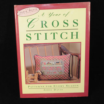 "Counted Cross Stitch Pattern Book ""A Year of Cross Stitch"""