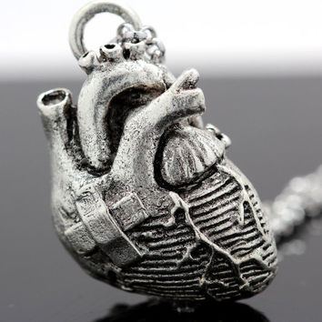 Broken Anatomical Heart Pendant
