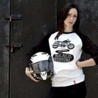 My Black Widow Tee-Unisex motorcycle Tee-Men's motorcycle shirt-Women's motorcycle shirt-Caferacer Tee-Motorcycle clothing-Moto Tee-Triumph
