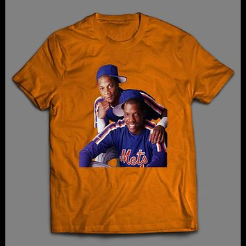 BASEBALL THROWBACK CLASSIC DARRYL STRAWBERRY AND DWIGHT GOODEN T-SHIRT