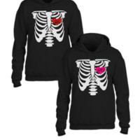 skeleton soul mate matching couple hoodie - Couple hoodie