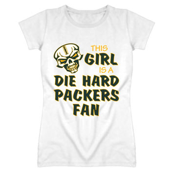 Lady's This Girl is a Die Hard Packers Fan T-Shirt