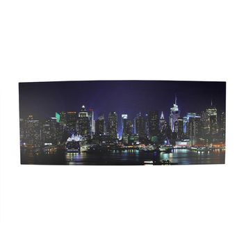"LED Lighted NYC New York City Skyline Canvas Wall Art 15.75"" x 39.25"""