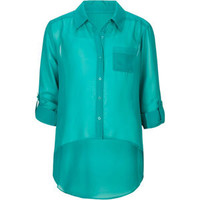 FULL TILT Neon Girls Hi Low Shirt