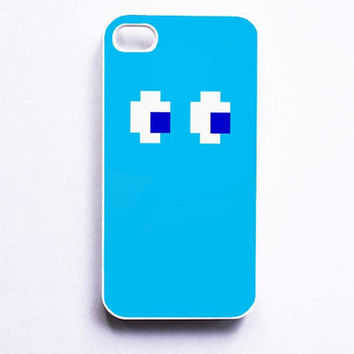 Blue Pacman Inspired Phone Case For iPhone Samsung iPod Sony