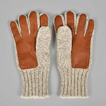 Ragg Wool and Leather Gloves