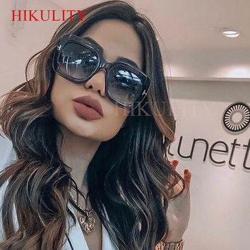 Square Oversize Sunglasses Women Men 2018 Brand Plastic Black Eyewear Female Big Frame Vintage Clear Gray Male Glasses Oculos