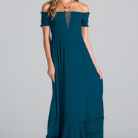 Fallin' In Love Maxi Dress - Deep Blue