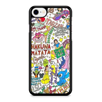 Disney Collage Art Iphone 8 Case